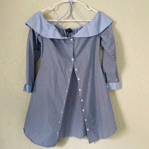 TOPSHOP Sailor Blouse-US 6